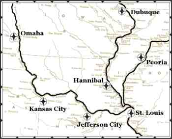 Continuously Cruising River City Port Of Calls - Map of cities in missouri