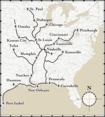 Continuously Cruising River City Port Of Calls - Tennessee waterways map